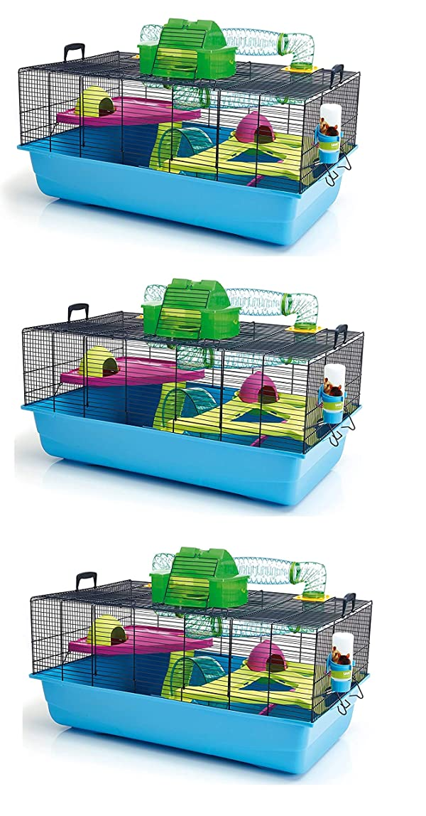 Lixit Animal Care Savic Hamster Heaven Metro Cage (3-Pack) (Tamaño: 3-Pack)