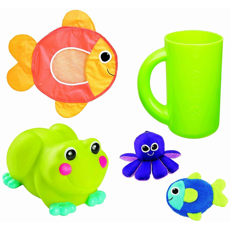 可爱青蛙浴缸水龙头安全罩:采用安全材料,不含BPA、PHTHALATE及PVC,防止宝宝被浴缸水龙头弄伤或者烫伤!青蛙脸上的红色小圆圈,一旦水温超过40度以上,便会变白,提示水温过热。色彩鲜艳的洗澡小玩伴,同时有助宝宝视觉发育,宝宝洗澡的时候再也不乱闹。 宝宝洗发专用超软橡胶杯:柔软触感的软胶皮,具伸缩性的冲水杯边缘,让宝宝的额头舒适,不会被硌伤,有效防止水和肥皂流进宝宝的眼睛,让洗澡真正成为一件乐事。易握的把手,让家长使用更方便顺手。秋冬季节可以用作洗澡冲水杯,用来冲洗宝宝身体,可以保持宝宝体温。 小鱼