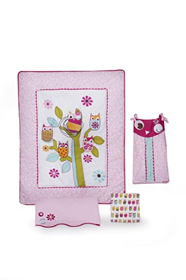 Plum Owl Meadow Crib Bedding Baby Bedding And Accessories