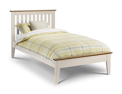 Julian Bowen Zwei Ton Salerno Shaker Bett, Holz, Eiche/Ivory, 90cm, Single
