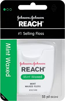 6-Pack Reach 55 Yards Mint Waxed Dental Floss