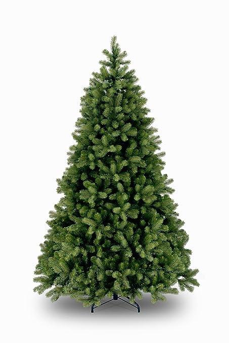 Set de 2 x Abeto decorativo LONDON SPEED, verde oscuro, soporte metálico, 210 cm, Ø 140 cm - Árbol artificial / Árbol de Navidad sintético - artplants