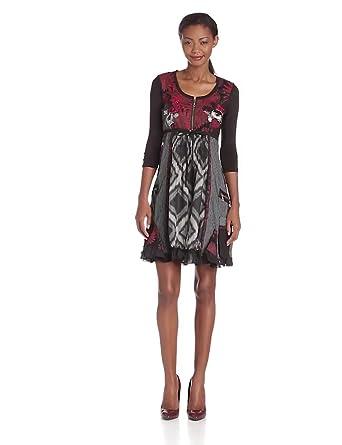 Desigual - abeth - robe - femme - noir (negro) - 44
