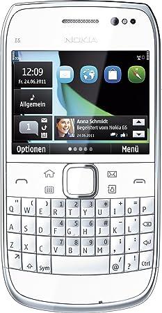 Nokia E6 Smartphone - Ecran tactile 6,2 cm -2,46 pouce - Blanc (Import Allemagne)