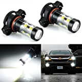 JDM ASTAR Extremely Bright Max 50W High Power 5202 5201 PS19W LED Fog Light Bulbs for DRL or Fog Lights, Xenon White (Tamaño: 5202)
