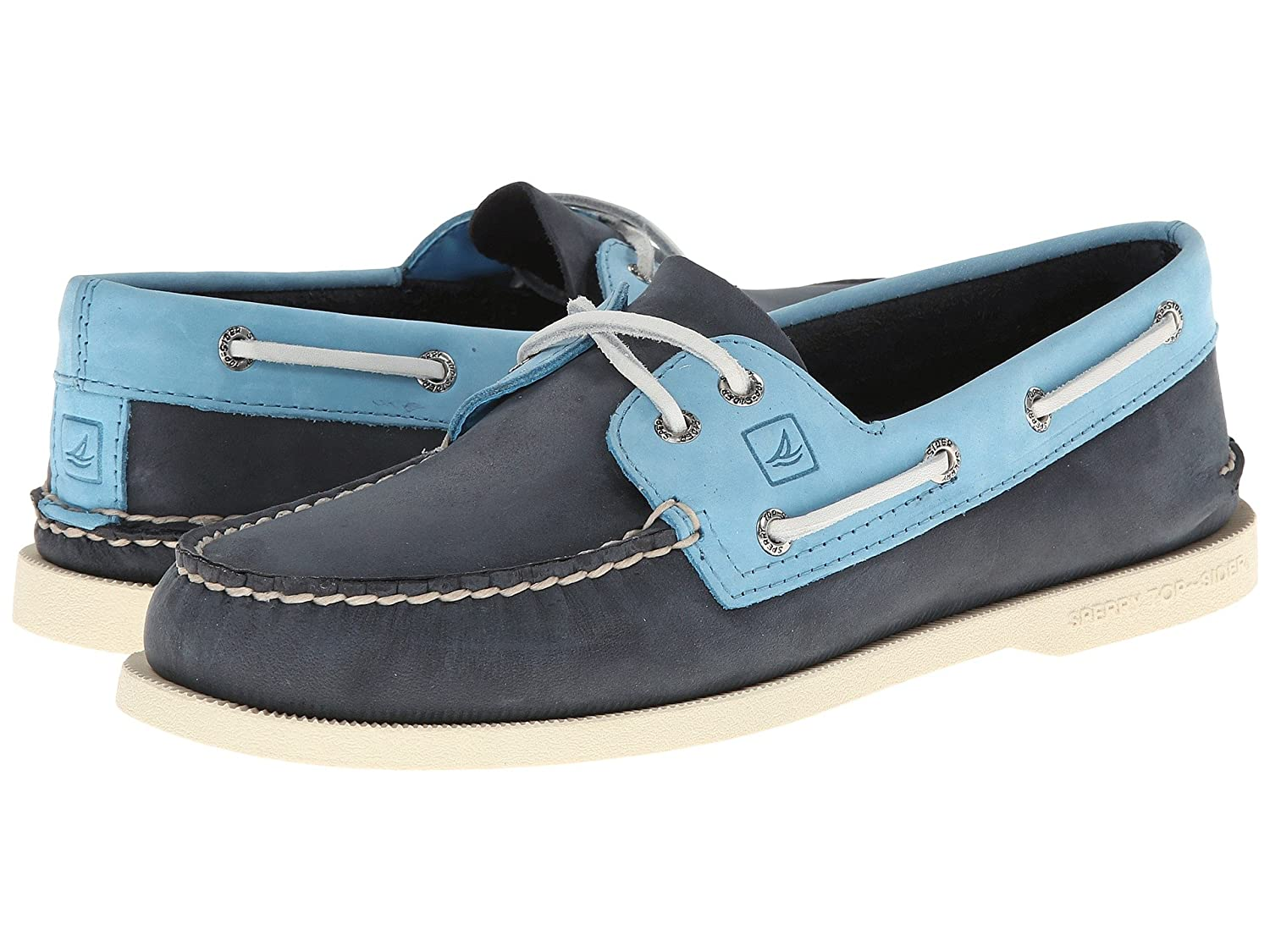 Two Tone Blue Boat Shoes