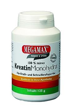 Kreatin Monohydrat 100% Megamax Pulver 125 g