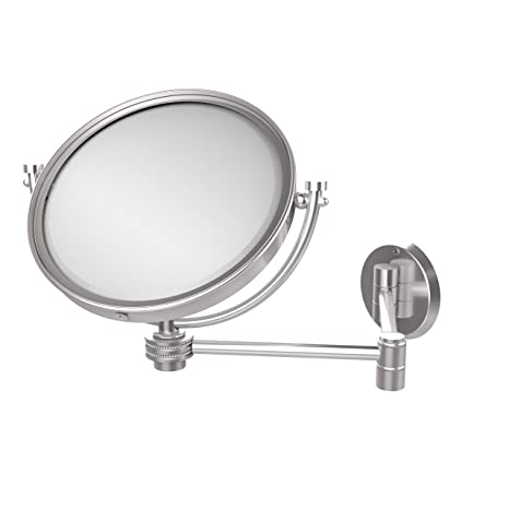 Allied Brass WM-6D/5X-SCH 8-Inch Wall Mirror with 5x Magnification, Extends Up to 14-Inch, Satin Chrome