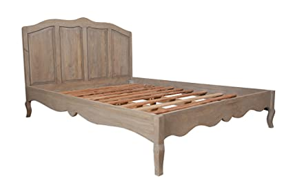 Bourdeilles Solid Mango Shabby Chic 3' Single Bed Frame Only / Solid Mango Wood 3 Foot Single Bed Frame / Classically Modern Bedroom Furniture