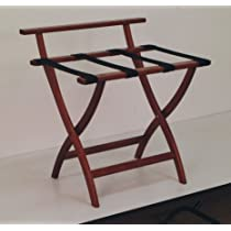 Wall Saver Luggage Rack Webbing Color: Black, Finish: Dark Red Mahogany