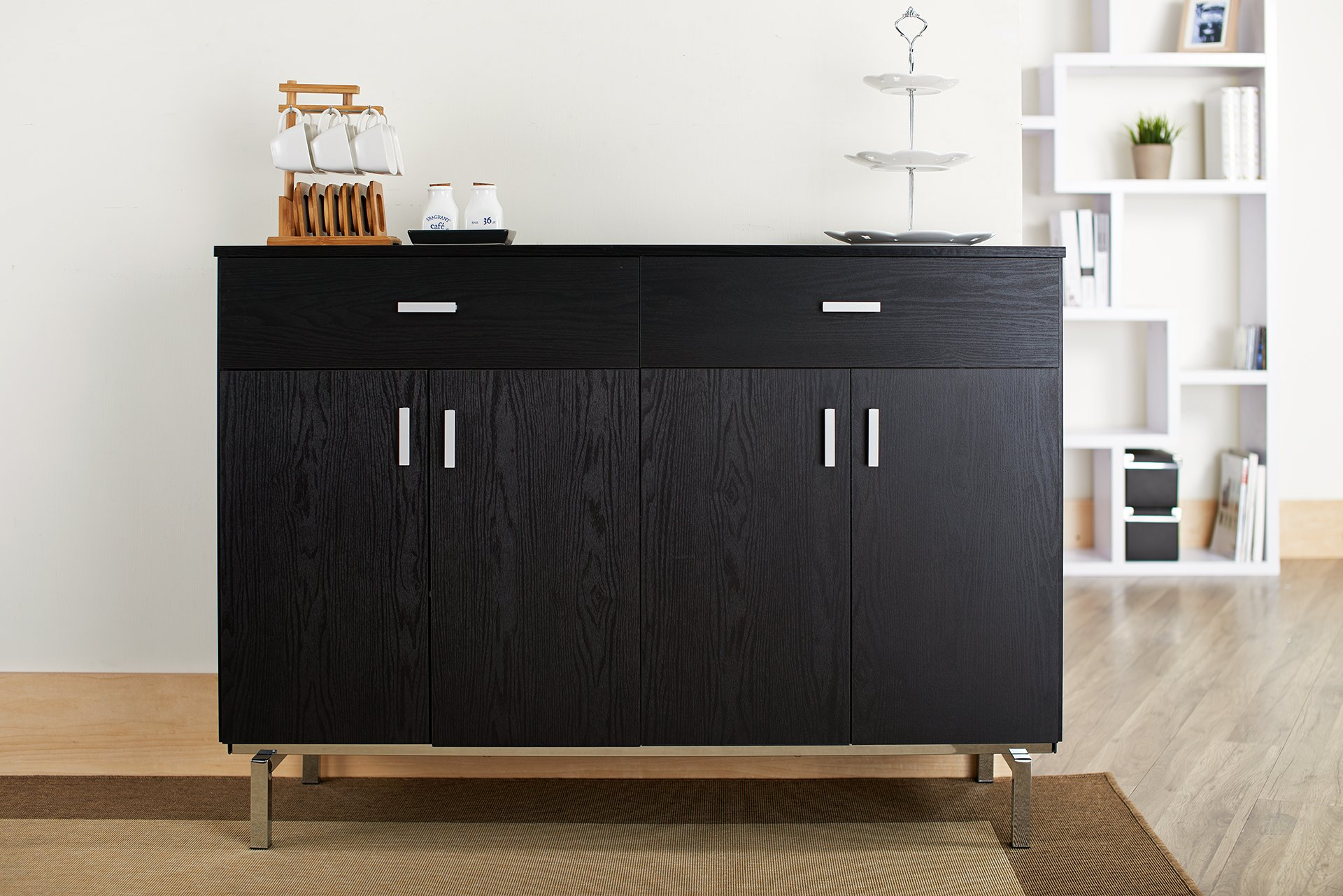 enitial lab knox 2 doors buffet black On amazon living room cabinets