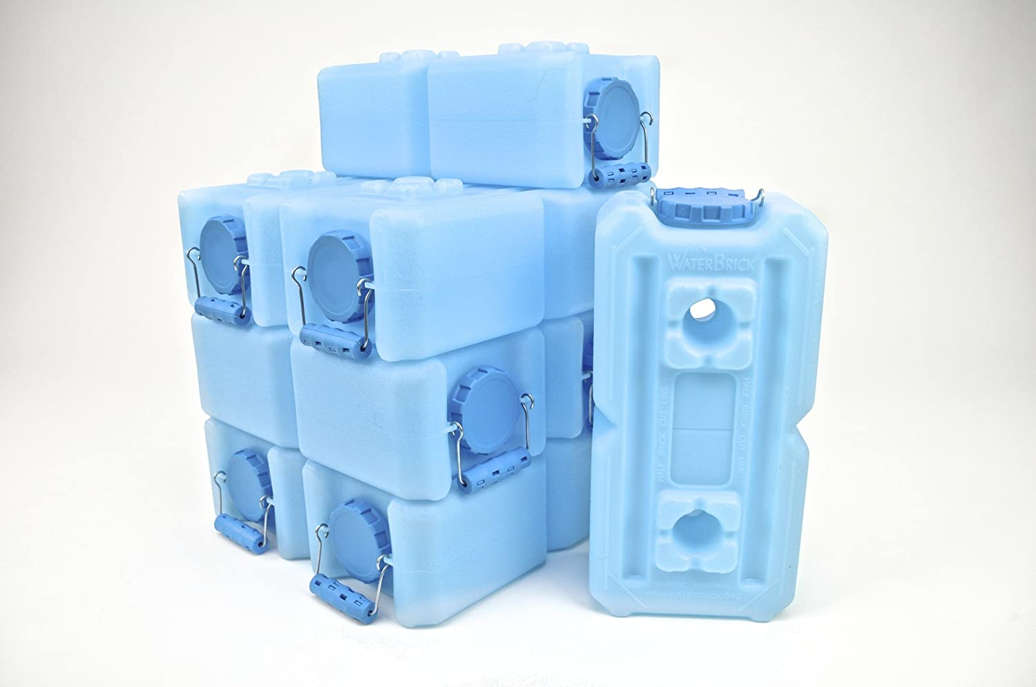 Water Storage Containers - WaterBrick - 8 Pack Blue