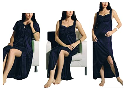 Hot N Sweet 2804 B Navy Blue Two Pcs Nighty. at amazon