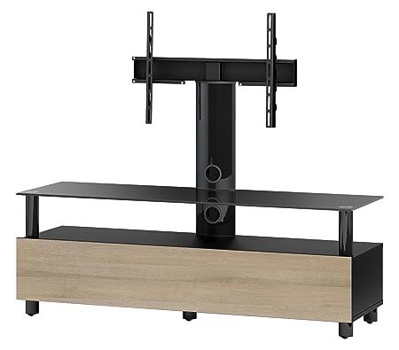 Accord TRN1133 B-MOL Sonorous TV-Möbel fur 60 Zoll Fernseher, Holz, braun, 45 x 140 x 45 cm