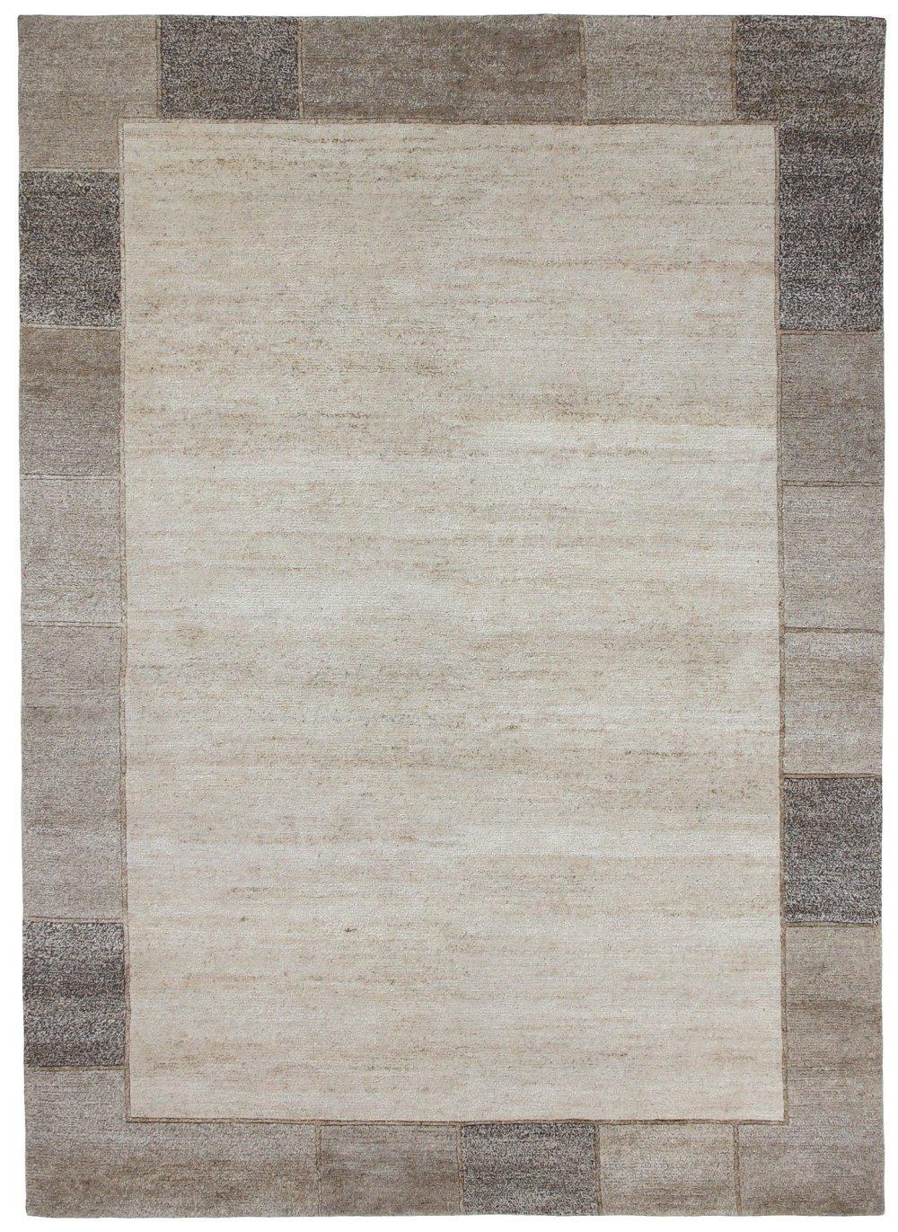 """TEPPICHWELT SONA-LUX Nepal Teppich handgeknüpft natur """"Größe auswählen"""" 90 x 160 cm"""