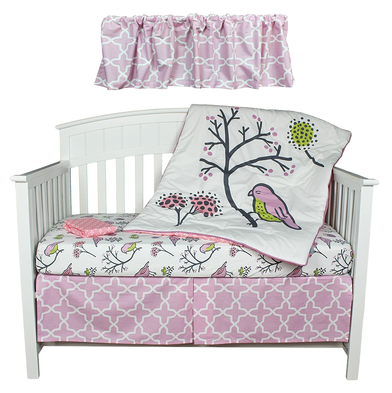 Kidsline Birds and Flowers Crib Bedding