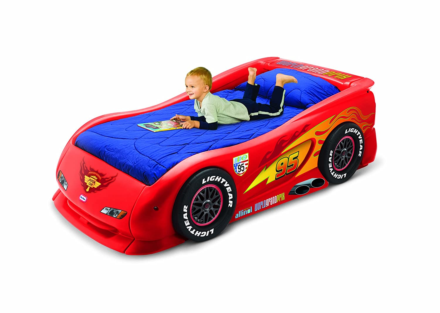 An Image of Little Tikes Lightning McQueen Sports Car Twin Bed