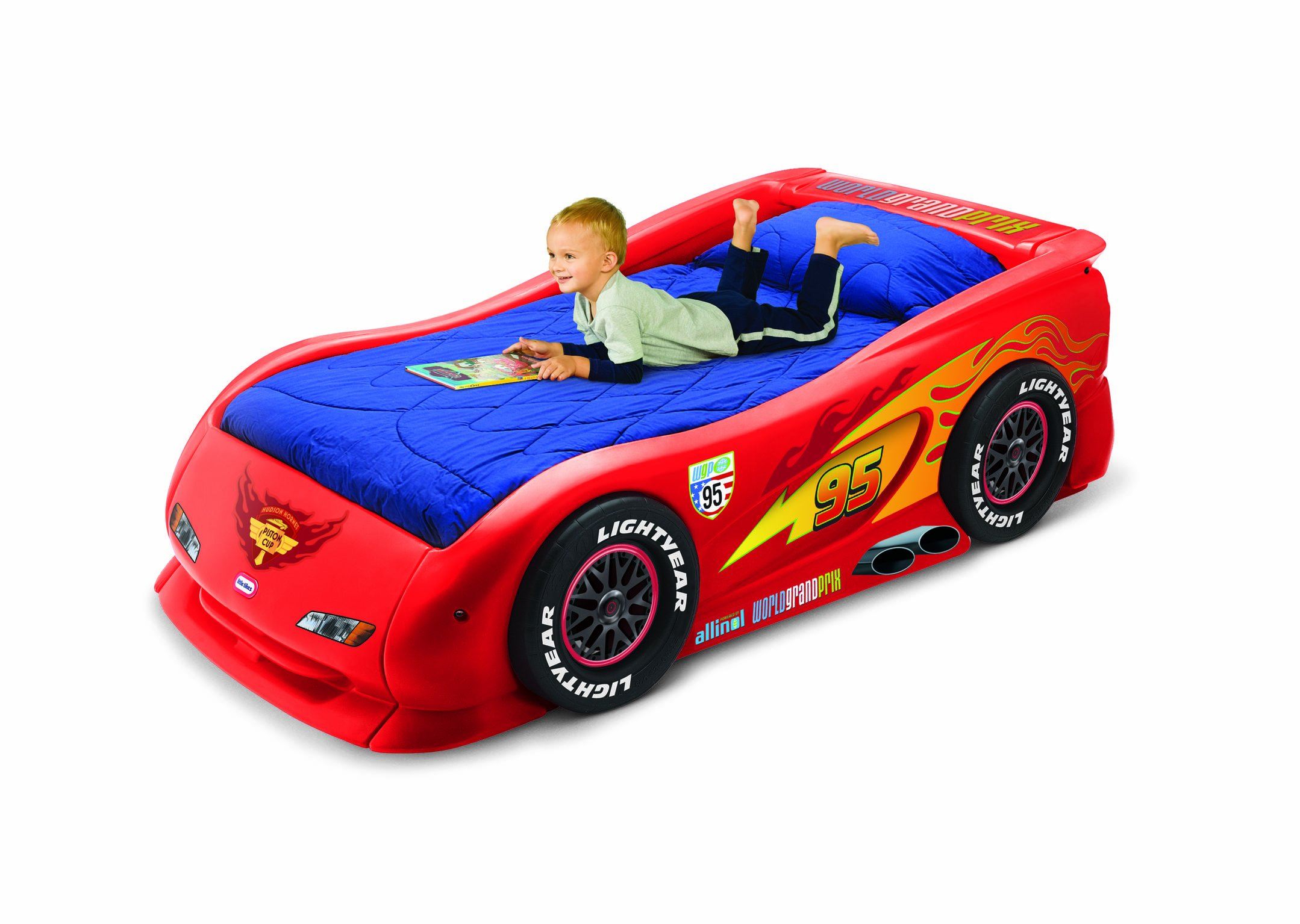 Cars 2 Lightning McQueen Sports Car Twin Bed