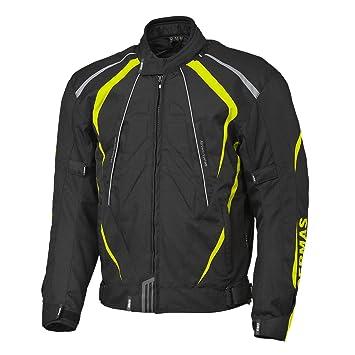 STUNT gERMAS veste-noir/jaune fluo, vollausgestattet pour moto scooter quad/aTV