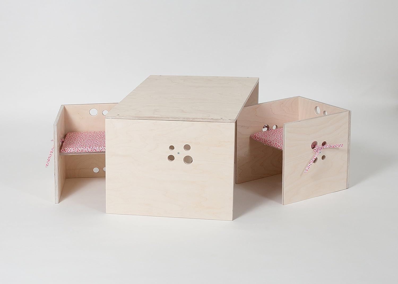 Kindersitzgruppe weiß Holz incl. Sitzkissen günstig bestellen