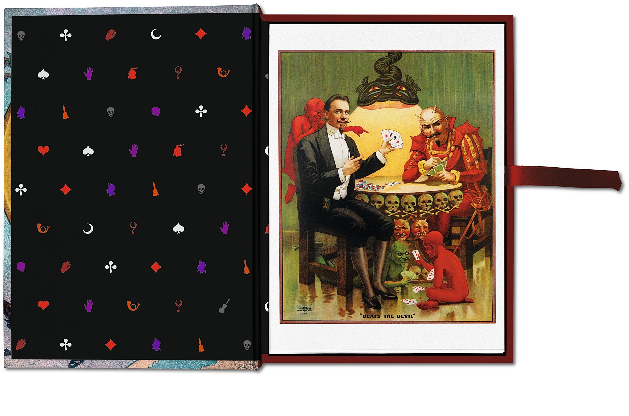 lecture magic 100 cartes postales chez taschen les tag res magiques virtual magie l. Black Bedroom Furniture Sets. Home Design Ideas