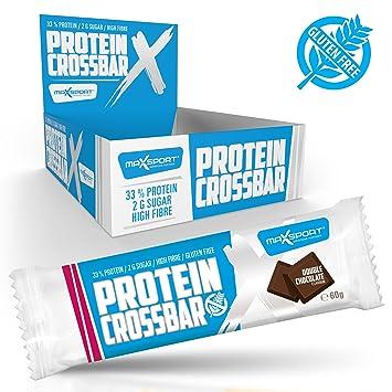 Protein Crossbar - Premium Proteinriegel, 33% Protein, nur 2g Zucker, High Fibre, Protein riegel 60g - 9 Stuck (Double Chocolate)