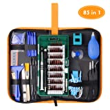 WOWGO Precision Screwdriver Set, 85 in 1 Cell Phone Repair Tool Kit, Magnetic Driver Kit with Portable Bag for iPad, PC, Laptop,Watch (Color: Repair Tool Kit)