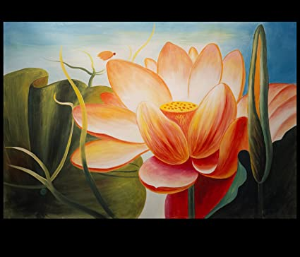 Abstract Lotus Painting Abstract Art Lotus Flower