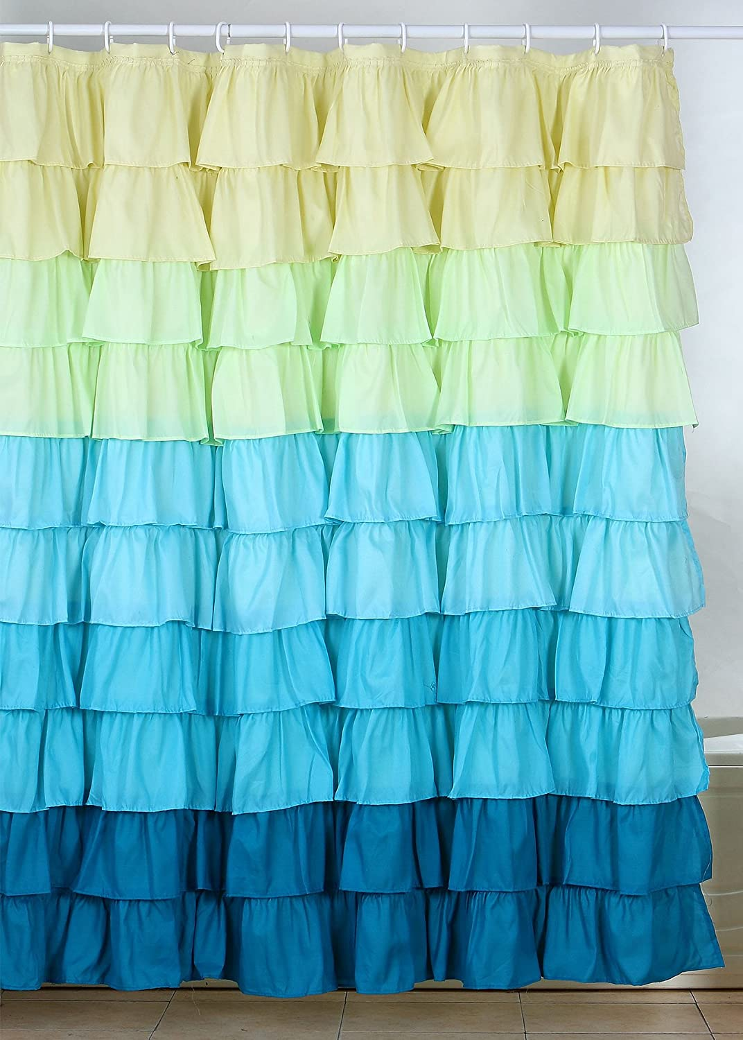 Ruffled Curtains Canada Ruffle Shower Curtain With