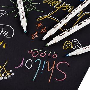 Premium Metallic Marker Pens Sunshilor Set Of 20 Assorted