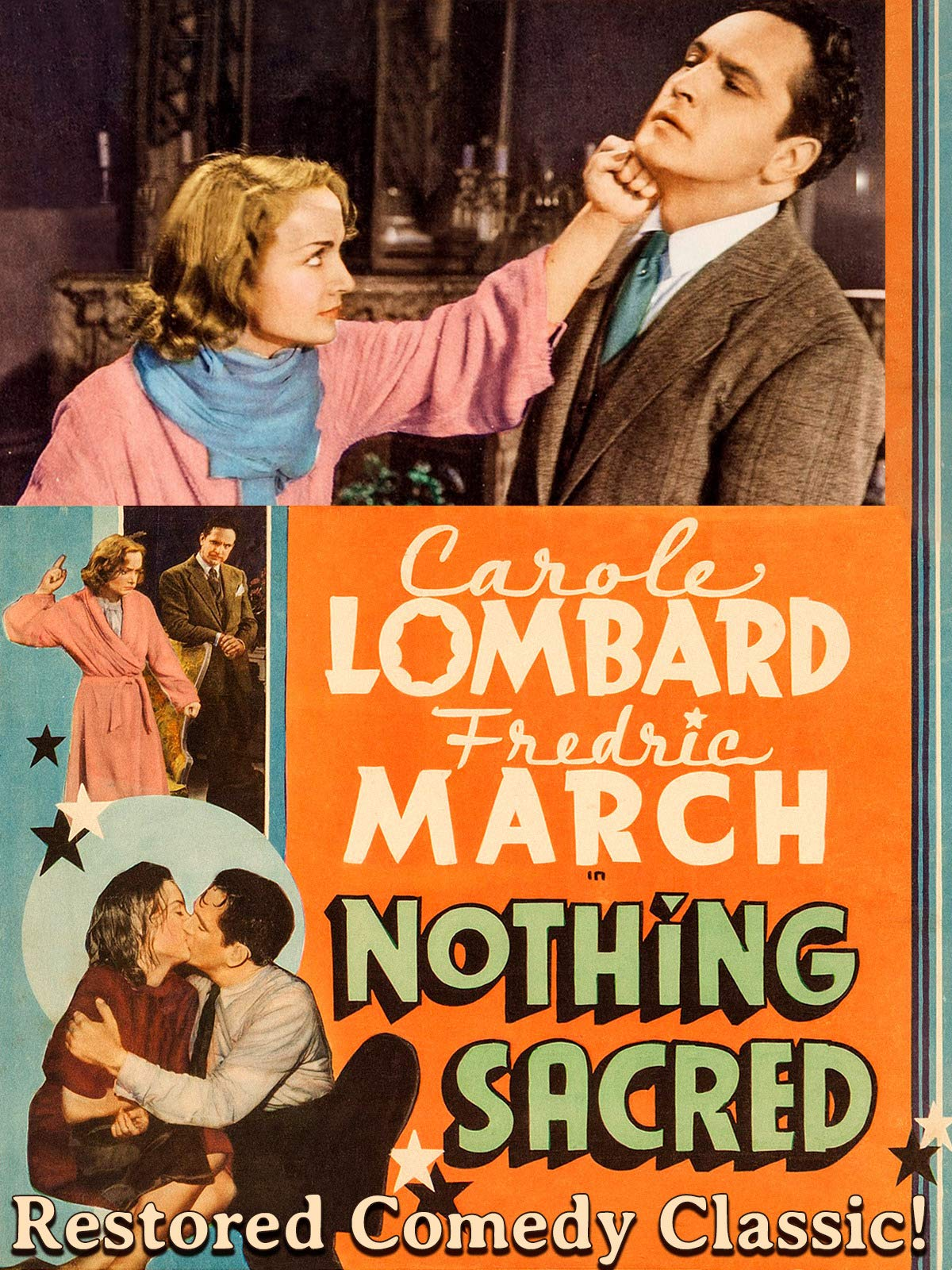 Nothing Sacred - Carole Lombard, Fredric March, Restored Comedy Classic!