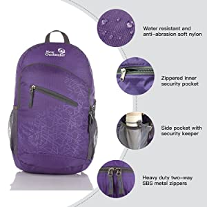 b515704f43 Outlander Packable Handy Lightweight Travel Hiking Backpack Daypack