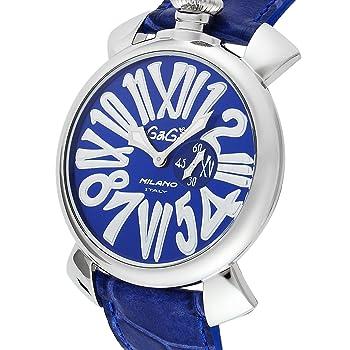 GAGA MILANO 腕時計 ブルー文字盤 5084.3 メンズ 【並行輸入品】