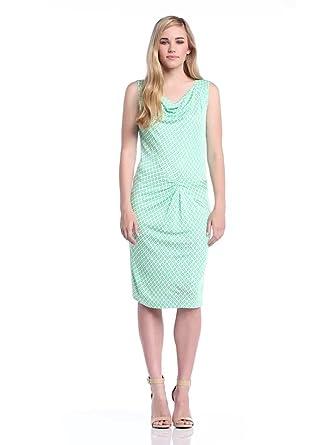 Laurèl Damen Kleid, 11383 Gepunktet, GR. 34 (34), Mehrfarbig (Mehrfarbig)
