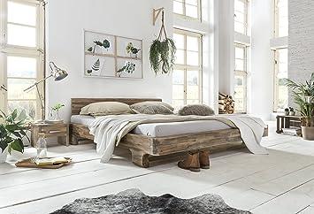 Woodkings® Bett 180x200 Mayfield Doppelbett Akazie rustic Schlafzimmer Massivholz Design Doppelbett massive Naturmöbel Echtholzmöbel gunstig
