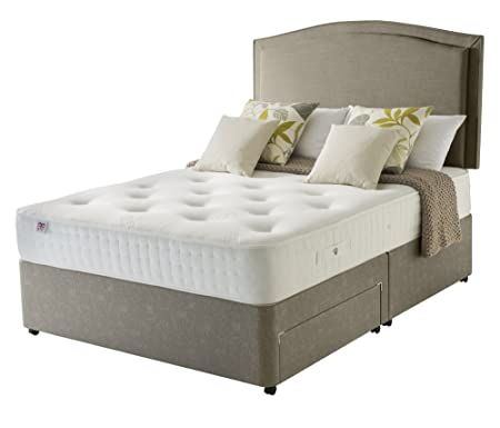 Rest Assured Hadleigh 800 Pocket 2 Drawer Divan Bed and Mattress - Double, Tan