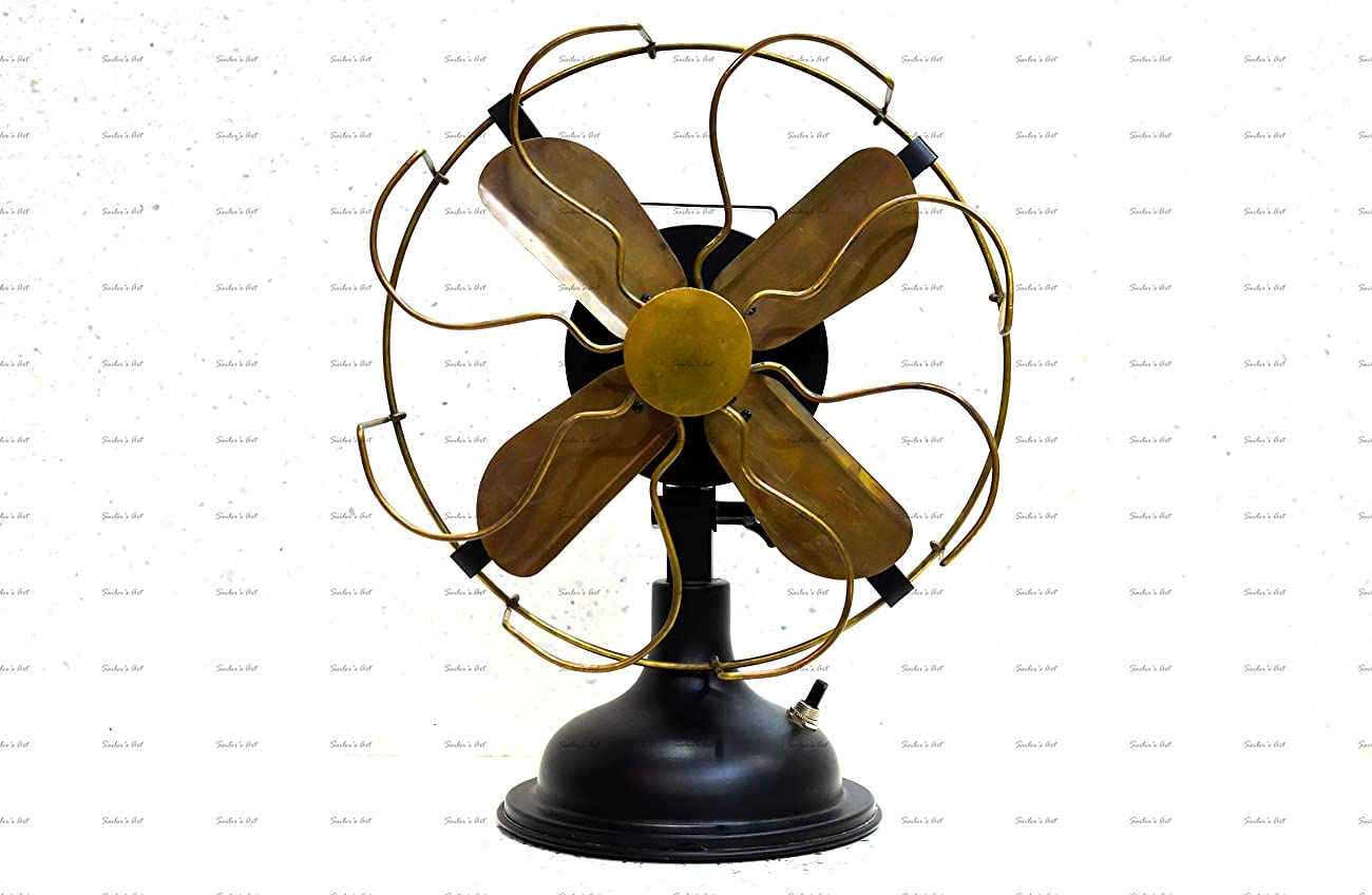Sailor's Art Antique Brass Vintage Table Fan 13