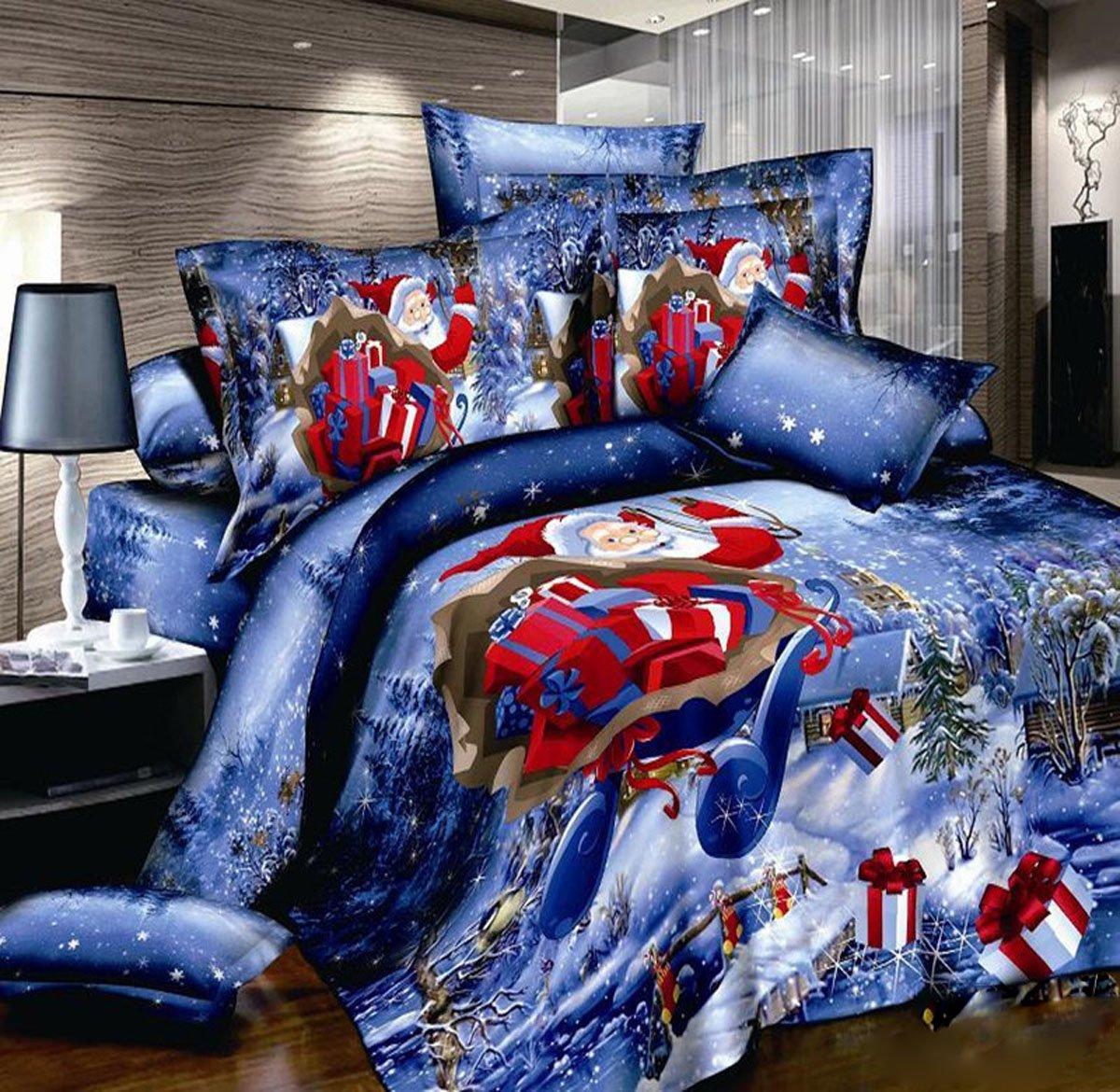 3D Christmas Santa Claus Bedding Set