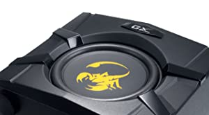 Genius GX-Gaming SW-G2.1 3000 with Two Input Jacks for PC/TV/DVD/Game Devices (Color: Black/gold)
