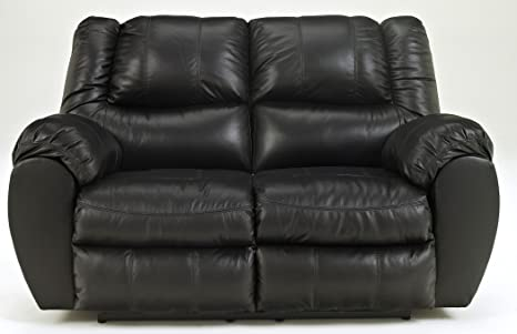 Ashley 9230186 McAdams Black Reclining Loveseat