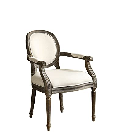 Furniture of America Felicia Traditional Armchair, Beige