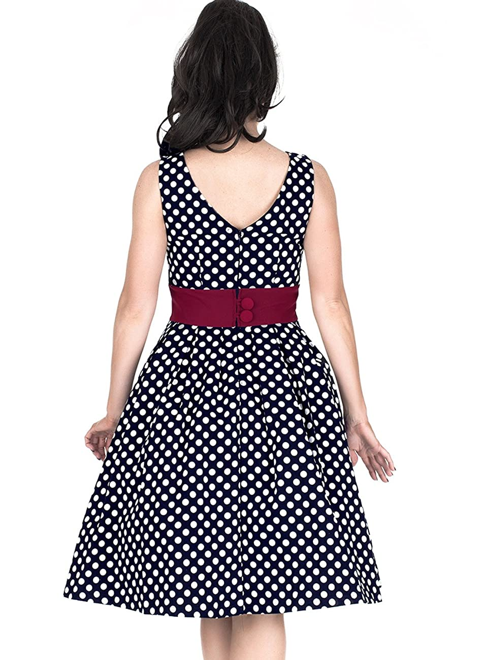 Miusol Women's Vintage Cut Out Polka Dot 1950'S Bridesmaid Swing Dress 1