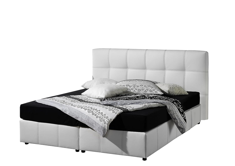 Maintal Betten 236660-4691 Boxspringbett Arena 180 x 200 cm, kunstleder weiß