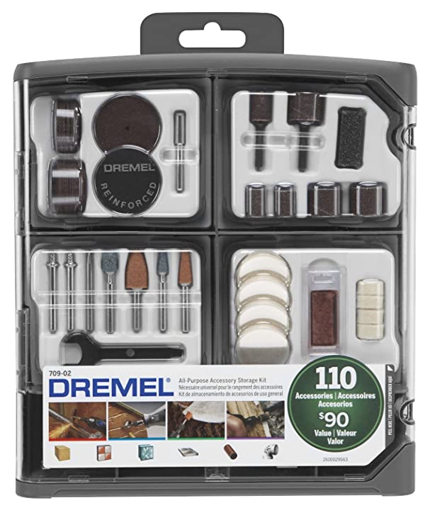 Dremel 709-02 110-Piece All-Purpose Rotary Accessory Kit (Color: Multicolor)