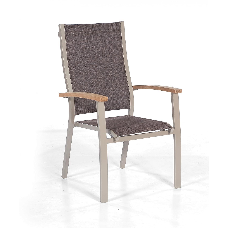 Sonnenpartner Gartenstuhl Sessel Modell Florida in champagner mocca 80050206 günstig bestellen