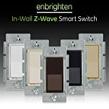 GE Enbrighten Z-Wave Plus Smart Light Switch, Compatible with Alexa, SmartThings, Wink, Zwave Hub Required, ON/Off Control, Repeater/Range Extender, 3-Way Compatible, Brown, 35922 (Color: Brown, Tamaño: Switch)