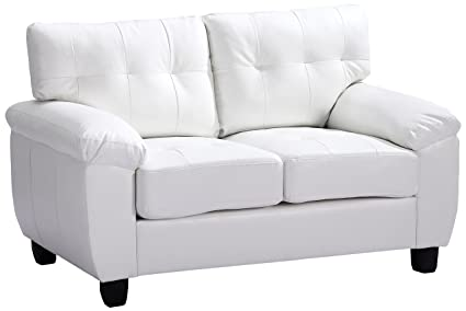 Glory Furniture G907A-L Living Room Love Seat, White