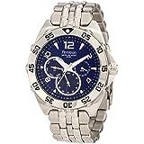 Armitron Men's 204664BLSV Stainless Steel Sport Watch (Color: Silver/Blue)