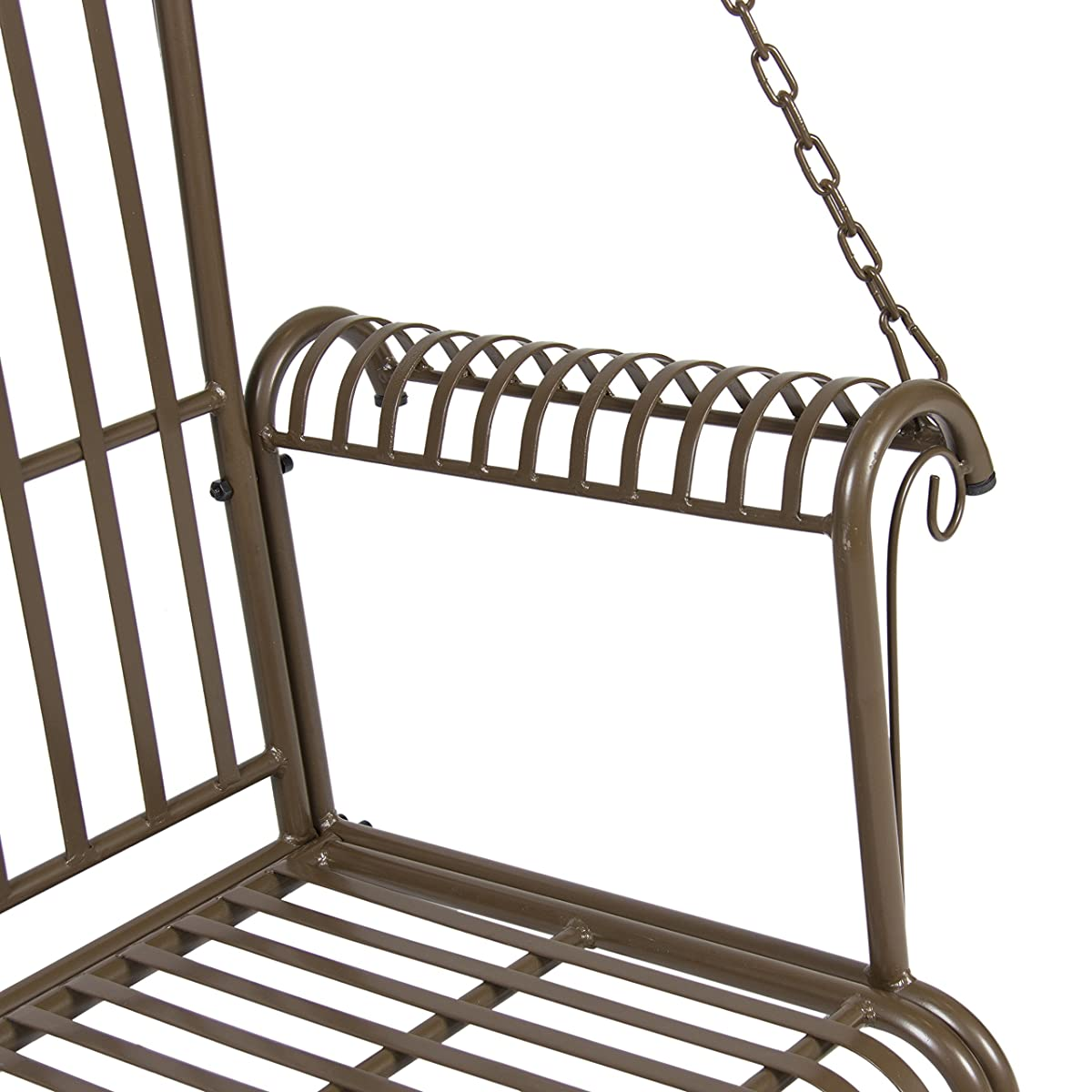 Best Choice Products Iron Patio Hanging Porch Swing Chair Bench Seat Outdoor Furniture