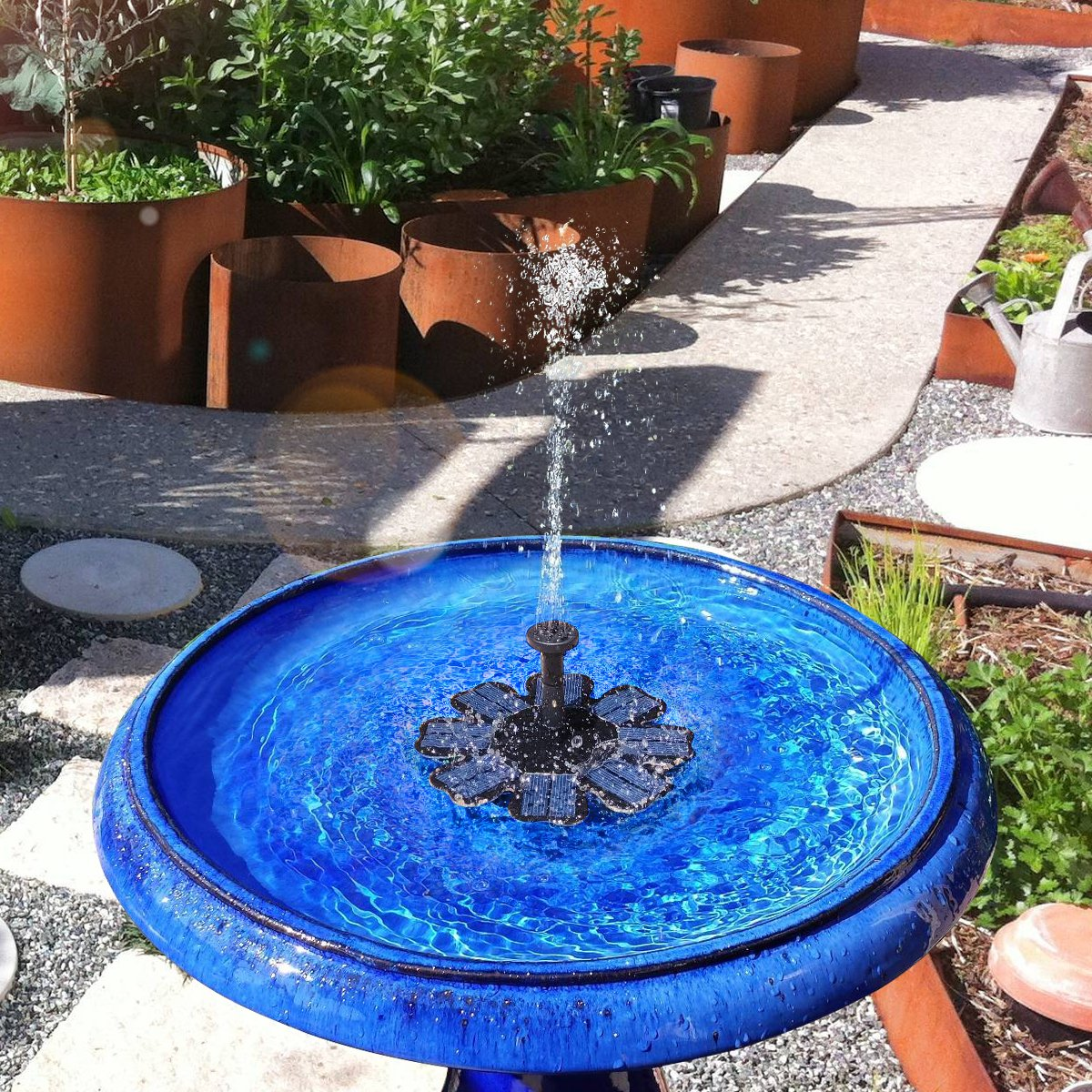 Feelle Solar Powered Fountain Pump 8v 1 6w Solar Panel